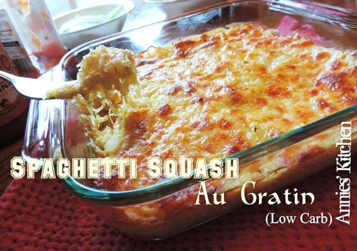 Spaghetti squash au gratin